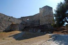 Kasteel in Berat Royalty-vrije Stock Foto's