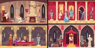 Kasteel Binnenlands Concept royalty-vrije illustratie