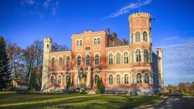 Kasteel in Birini, Letland Royalty-vrije Stock Fotografie