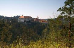 Kasteel Bitov, Tsjechische Republiek, Europa Stock Foto