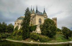 Kasteel in Bojnice, Slowakije royalty-vrije stock foto