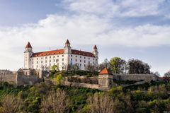 Kasteel in Bratislava, Slowakije Stock Afbeeldingen