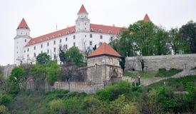 Kasteel in Bratislava, Slowakije, Europa Stock Afbeelding