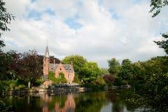 Kasteel in Brugge België royalty-vrije stock foto