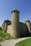 Kasteel in Carcassonne Frankrijk stock foto