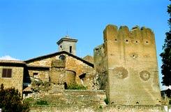 Kasteel, Cerveteri, Italië stock foto's