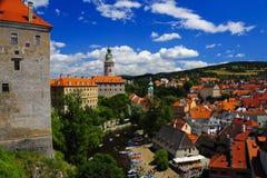 Kasteel Cesky Krumlov, Tsjechische Republiek Stock Afbeeldingen