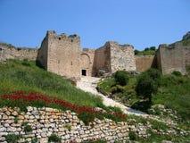 Kasteel in Corinth in Griekenland Stock Afbeelding