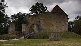 Kasteel Crevecoeur Engelse Auge in Normandië Frankrijk stock footage