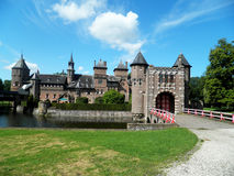 Kasteel de Haar, Utrecht, Nederländerna Arkivfoton
