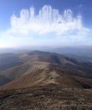 Kasteel in de wolken Stock Foto