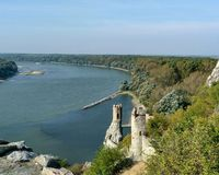 Kasteel Devin Slovakia Danube stock afbeelding