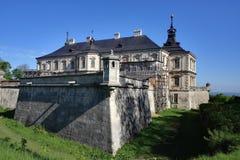 Kasteel in dorp Pidgirci, de Oekraïne Stock Afbeelding