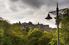 Kasteel in Edinburgh, Schotland royalty-vrije stock afbeelding