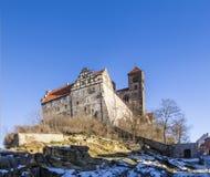 Kasteel en kerk in Quedlinburg, Duitsland Stock Afbeeldingen