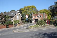 Kasteel gatehouse ingang Stock Fotografie