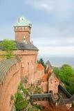 Kasteel haut-Koenigsbourg Stock Foto's