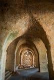 Kasteel in het Nationale Park van Yehiam, Israël stock afbeelding