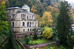 Kasteel het omringen met bos - Duits Heidelberg, Stock Foto