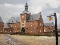 Kasteel Hoensbroek,其中一座最著名的荷兰城堡 库存照片