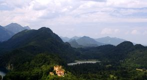 Kasteel Hohenschwangau, Beieren, Duitsland royalty-vrije stock foto