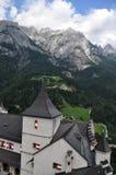 Kasteel Hohenwerfen, Oostenrijk stock afbeeldingen