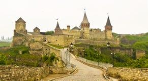 Kasteel in kamenets-Podolskiy, de Oekraïne Royalty-vrije Stock Afbeeldingen