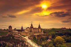 Kasteel kamianets-Podilskyi Royalty-vrije Stock Foto's