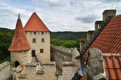 Kasteel Kokorin, Tsjechische republiek Stock Foto's