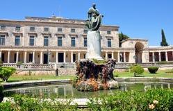 Kasteel in Korfu, Griekenland, Europa Stock Afbeeldingen