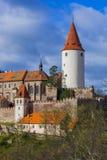 Kasteel Krivoklat in Tsjechische Republiek Royalty-vrije Stock Afbeeldingen