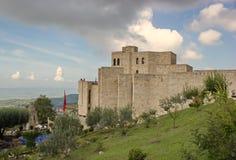 Kasteel in Kruje, Albanië stock foto's
