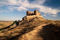 Kasteel. La Mancha Royalty-vrije Stock Fotografie