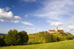 Kasteel Leuchtenburg bij de Herfst Royalty-vrije Stock Foto