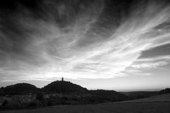 Kasteel Leuchtenburg vóór zonsondergang Stock Foto