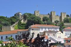Kasteel in Lissabon Stock Foto