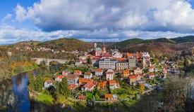 Kasteel Loket in Tsjechische republiek Royalty-vrije Stock Foto