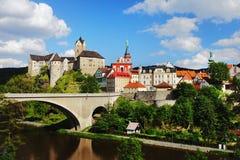 Kasteel Loket, Tsjechische Republiek Stock Afbeeldingen