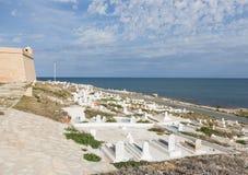 Kasteel in Mahdia, Tunesië royalty-vrije stock foto