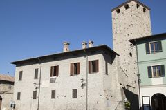 Kasteel Malaspina Varzi Pavia Italië Royalty-vrije Stock Afbeeldingen