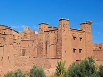 Kasteel in Marokko stock foto's