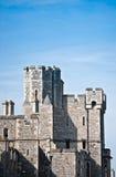 Kasteel met blauwe hemelachtergrond. royalty-vrije stock fotografie