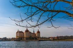 Kasteel Moritzburg dichtbij Dresden royalty-vrije stock fotografie