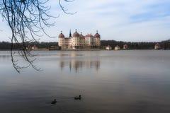 Kasteel Moritzburg dichtbij Dresden stock fotografie