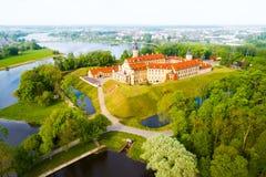 Kasteel in Nesvizh, het Gebied van Minsk, Wit-Rusland royalty-vrije stock foto