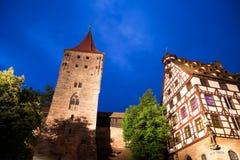 Kasteel in Nuremberg (Nürnberg), Germay. stock afbeeldingen
