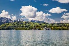 Kasteel Ort, Berg en traunsee-Gmunden, Oostenrijk Stock Fotografie