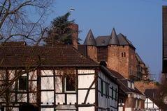 Kasteel in oude Duitse stad Stock Afbeelding