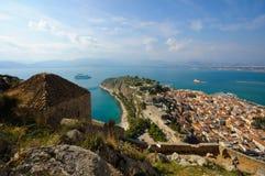 Kasteel Palamidi, Nafplio, Griekenland Royalty-vrije Stock Afbeeldingen