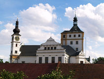 Kasteel in Pardubice stock foto's